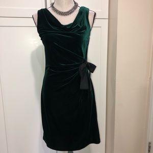 Sleeveless velour dress